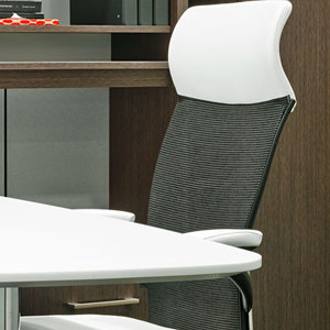 Haworth Executive chair at desk