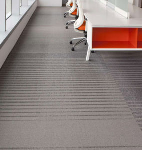 Tandus grey modular carpet