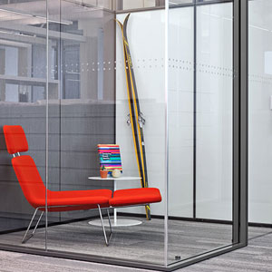 Haworth modular glass walls