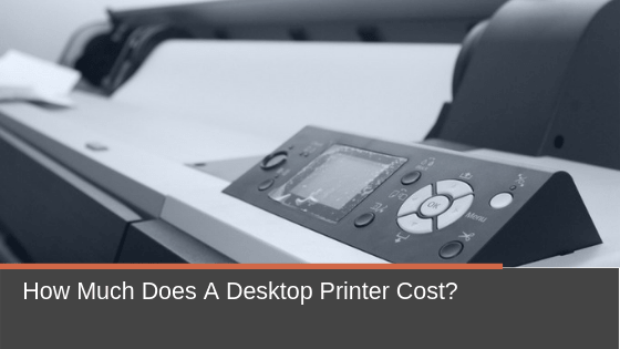 How much should you budget for this white desktop printer?