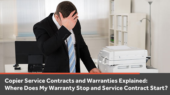 Copier service contracts vs copier warranties, what is the difference?