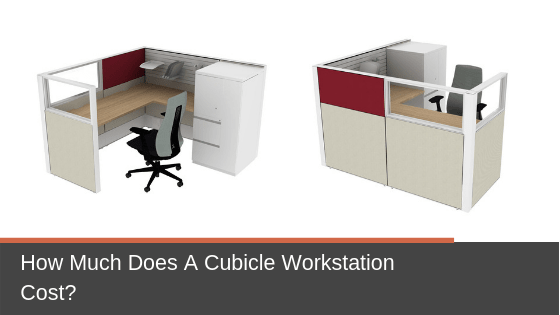 Two layouts for 6x6 systems furniture cubicle workstations with task chair. How much should you budget for a cubicle workstation like this?