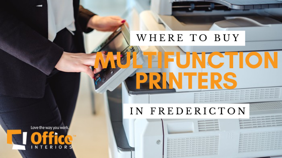 A business person using the Multifunction Printer