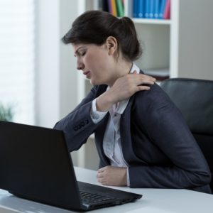 Back pain caused by poor ergonomics
