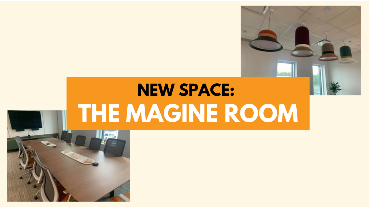Our new conference room: the Magine room